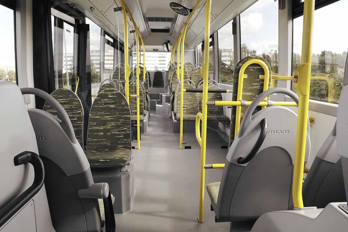 Volvo bus híbrido interior