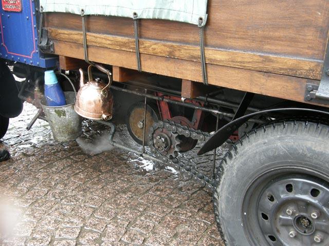 Camion a vapor