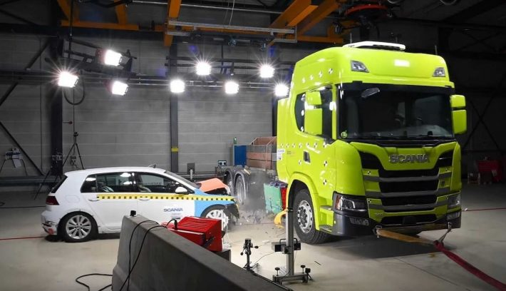 Scania eléctrico crash test